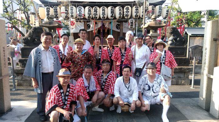8月5日(日)大島八幡神社 例大祭に福島県三春町から応援団